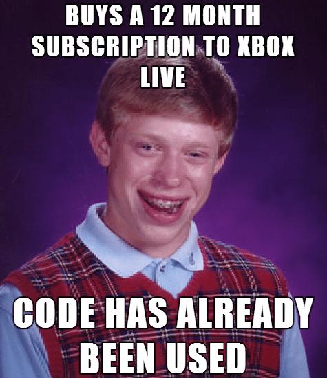 bad luck brian gamers Memes