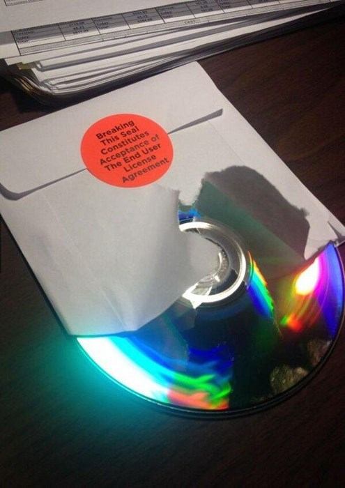 license agreements,break the seal,there I fixed it