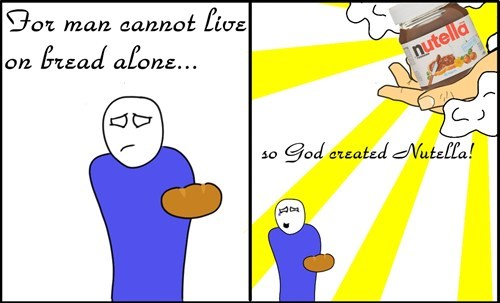 nutella,bread,funny,web comics