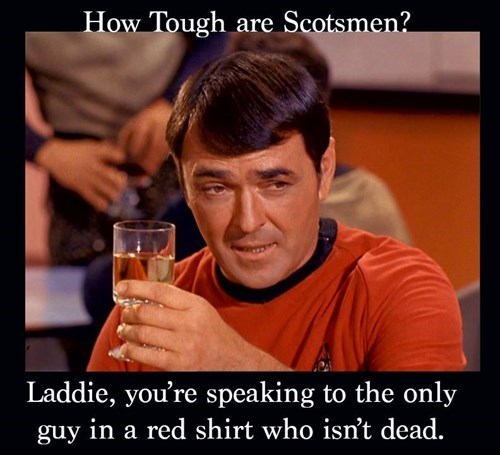 red shirt scottie Star Trek montgomery scott scotsman - 7868270592