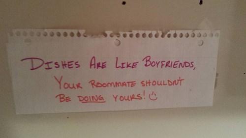 passive-aggressiveness,boyfriends,roommates