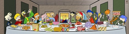 last supper ed cartoons edd n eddy - 7868416256