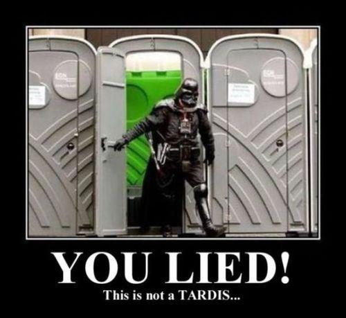 star wars tardis doctor who funny darth vader - 7868499712