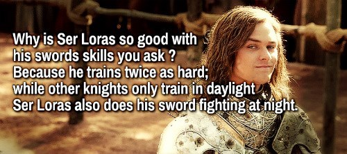 ser loras,Game of Thrones,swordfighting