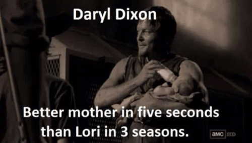 daryl dixon,mother,ovaries,lori grimes