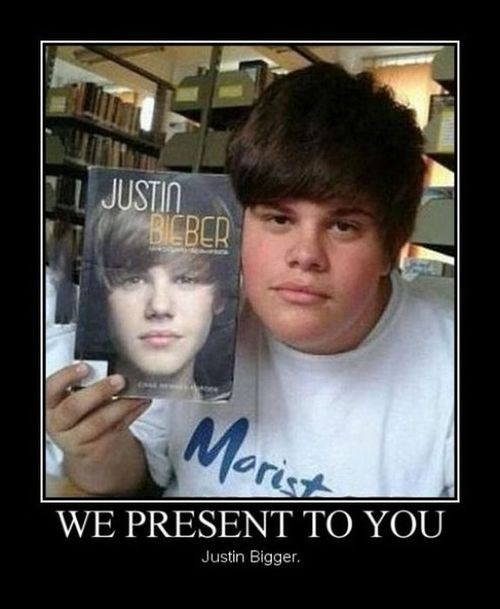 bigger,fat jokes,funny,justin bieber