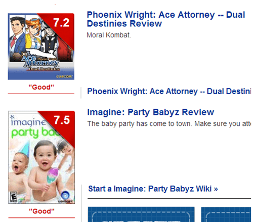 reviews,phoenix wright,imagine-party-babyz