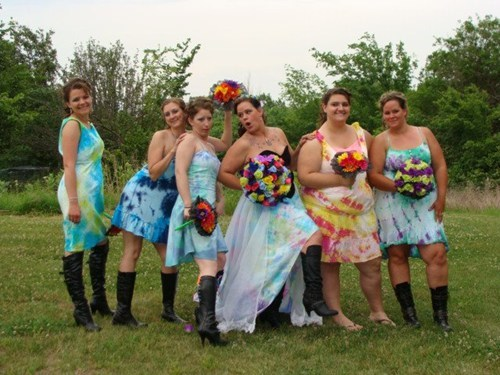 tye dye,fashion,boots,wedding