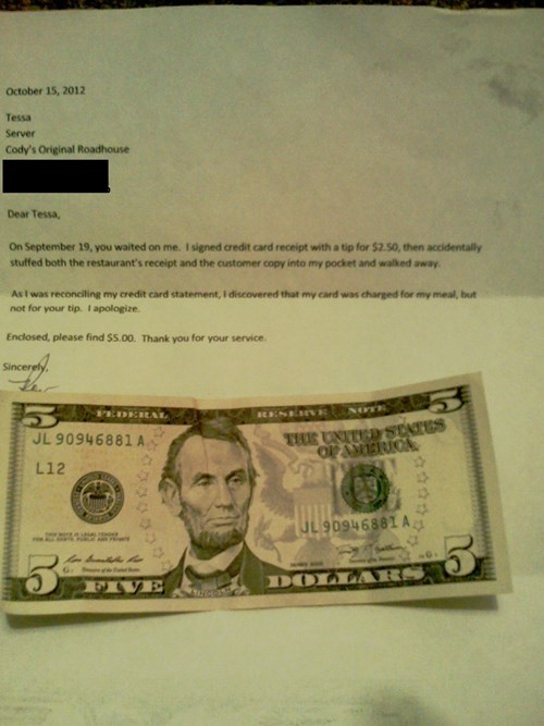 random act of kindness,tipping,restoring faith in humanity week,funny