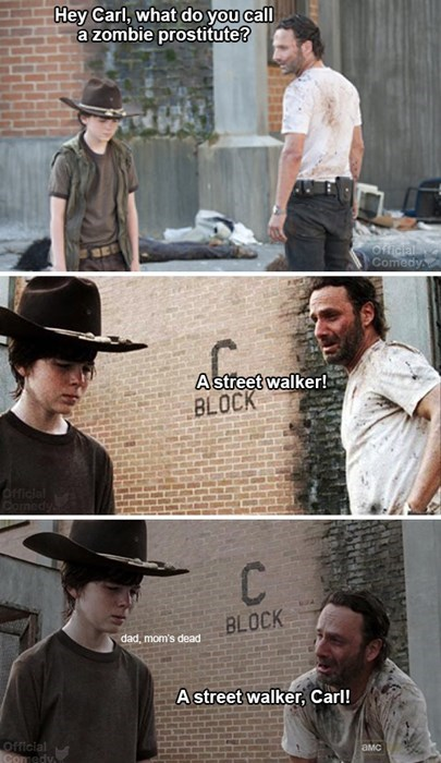 Rick Grimes puns official comedy The Walking Dead