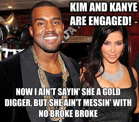kim kardashian gold digger kanye west - 7869843456
