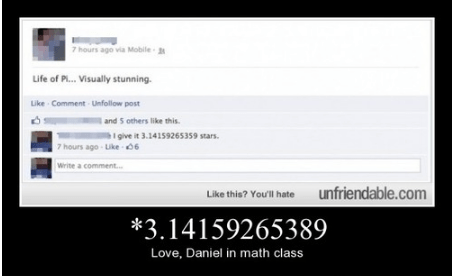 pi facebook math funny