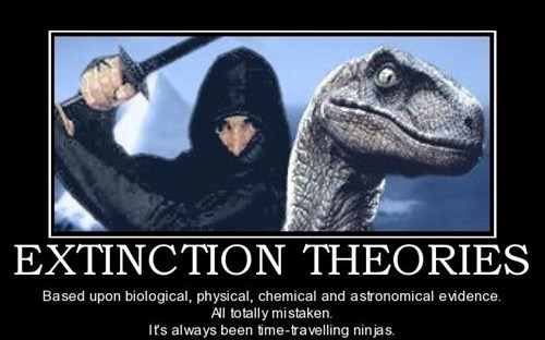 extinction,ninjas,time traveling,funny,dinosaurs