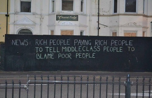 news poor people graffiti rich people monday thru friday g rated