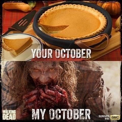 pie october zombie The Walking Dead - 7870031872