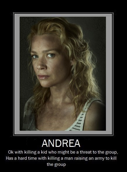 the worst andrea The Walking Dead - 7870065920