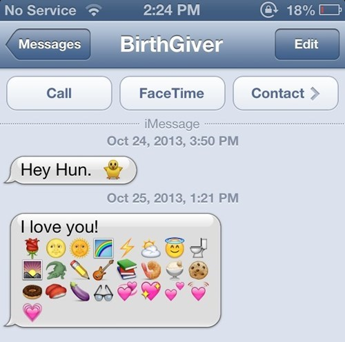 emoji text moms parenting