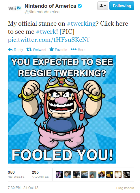 wario twerking reggie fils-aime nintendo failbook g rated