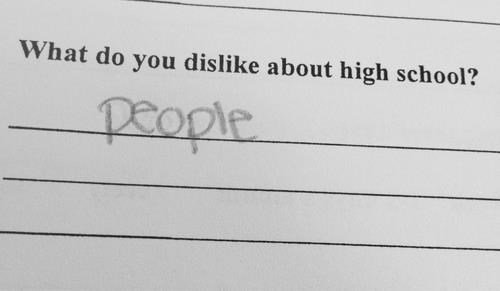 hate,people,high school,funny