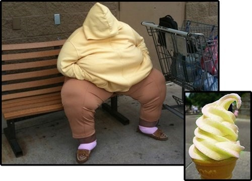 ice cream totally looks like funny