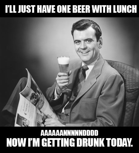 beer drunk lunch funny - 7870212608