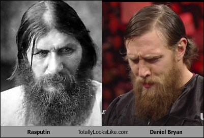 daniel bryan,e,rasputin,totally looks like