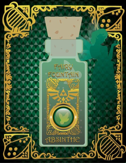 absinthe,link,art,legend of zelda,video games,funny