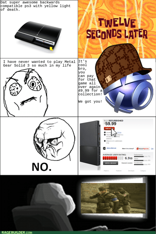 scumbag psn metal gear solid video games ps3