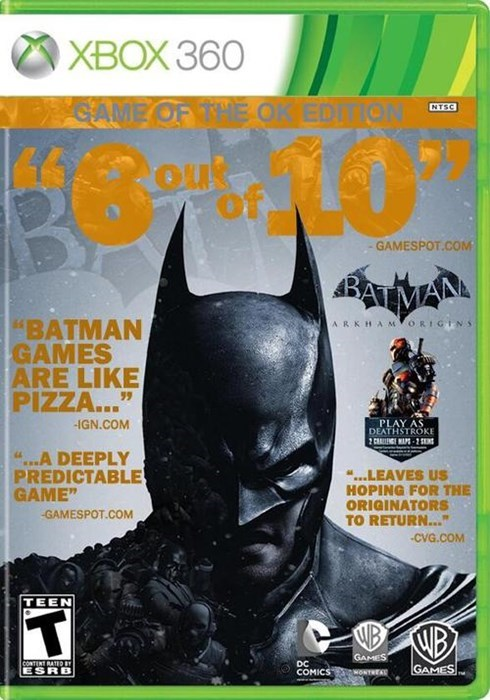 arkham origins video games game of the year