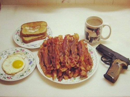 guns breakfast food - 7870287872