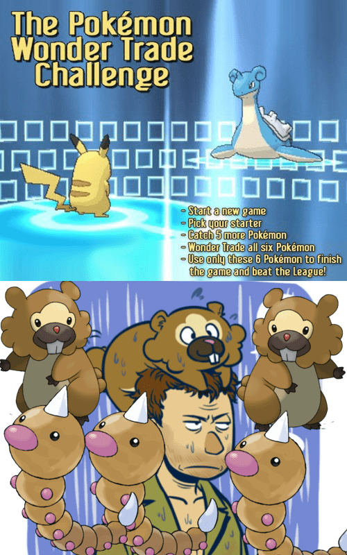 FAIL challenges bidoof wonder trade - 7870616832