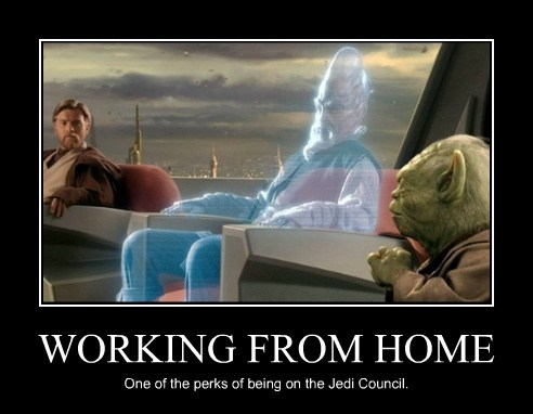 working from home star wars funny - 7870664704
