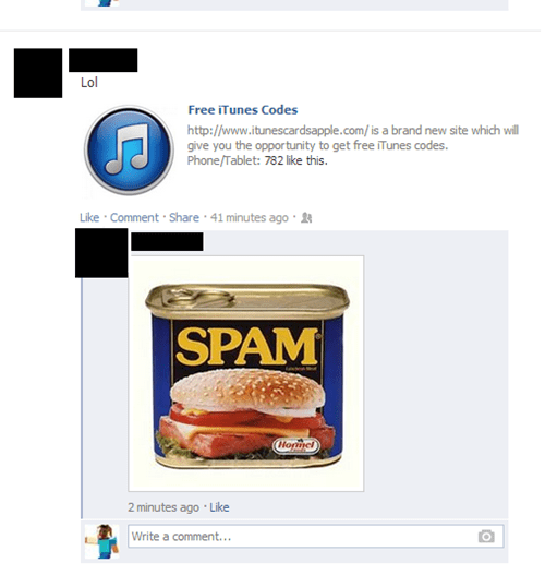 NOT that kind of spam!