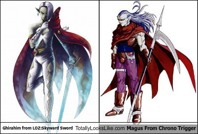 capes Skyward Sword ghirahim magus totally looks like Chrono Trigger zelda
