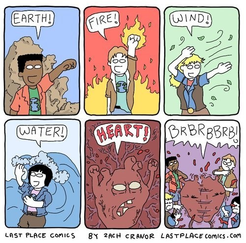 heart,fire,captain planet,the elements,funny