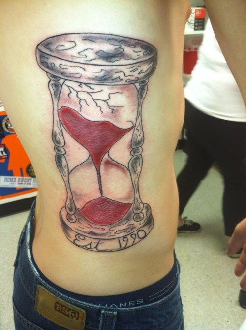tattoos,hourglass,funny
