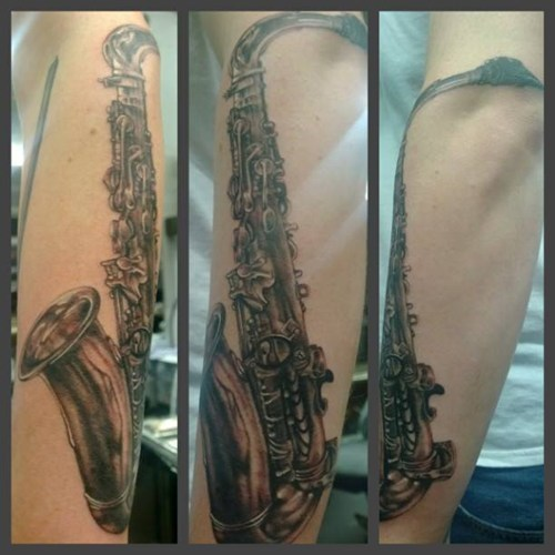 saxophones tattoos funny - 7871956736