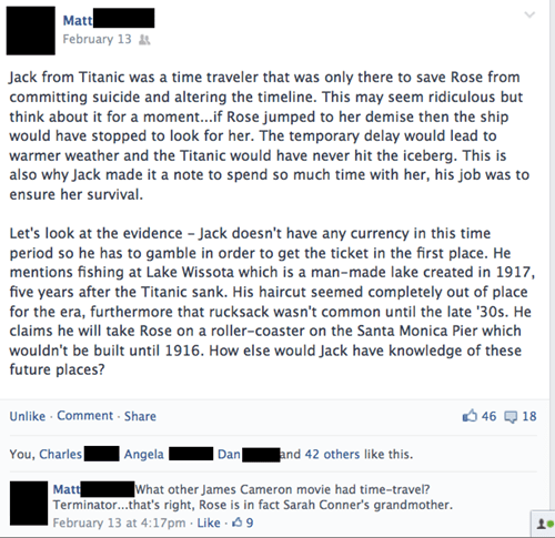 titanic The Terminator theories failbook g rated