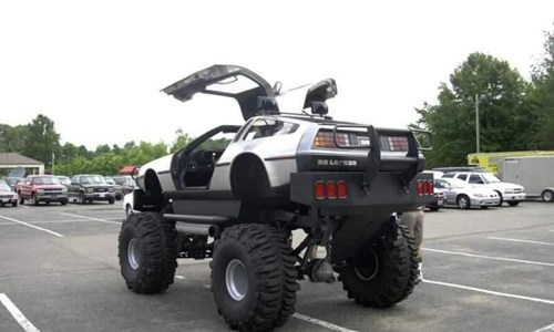 DeLorean back to the future off road