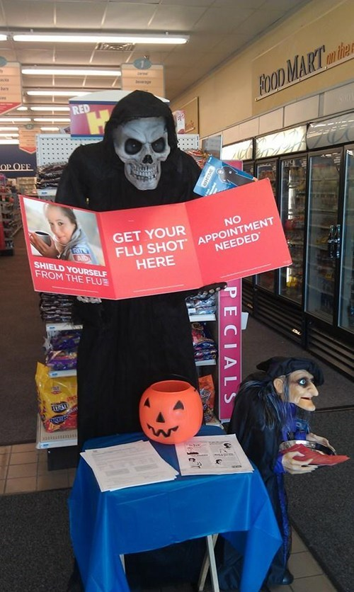 flu shots kids halloween parenting spoopy fail - 7872603904