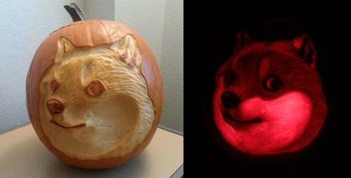 hallowmeme,jack o lanterns,super shibe,costumed critters