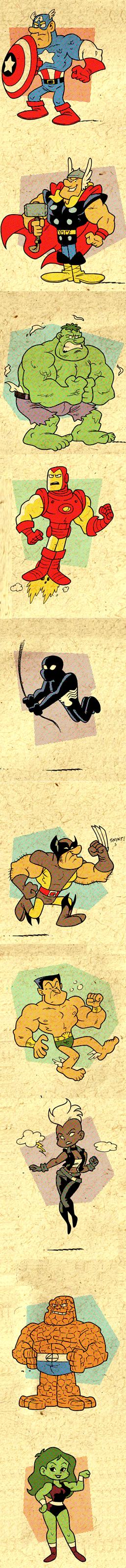 heroes marvel redesign cartoons - 7872686336