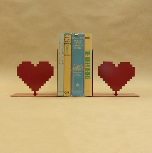 bookends,for sale,8 bit,hearts