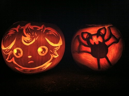 Pokémon,pumpkins,halloween,zubat,espurr