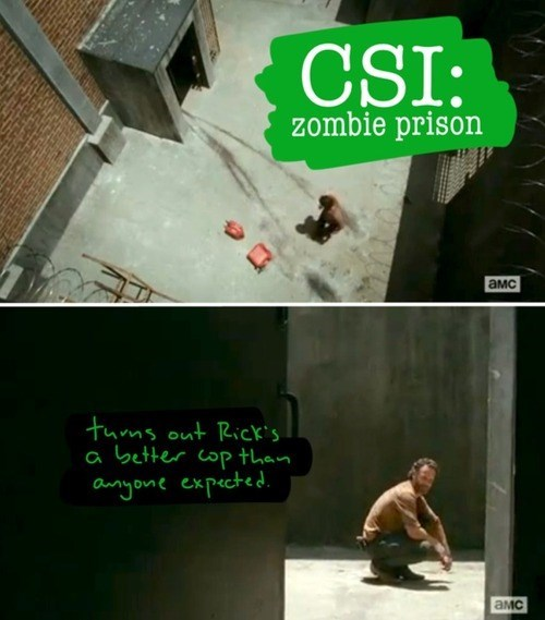 Rick Grimes csi mystery The Walking Dead