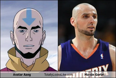 avatar aang,totally looks like,marcin gortat,funny