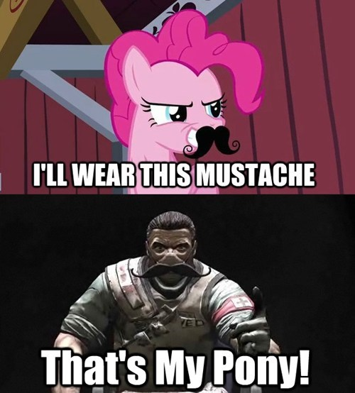 disguise mustache clever ruse pinkie pie - 7873640448