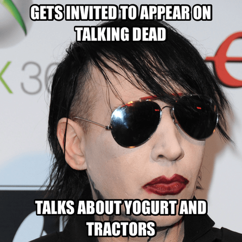marilyn manson weirdo talking dead The Walking Dead - 7874017792