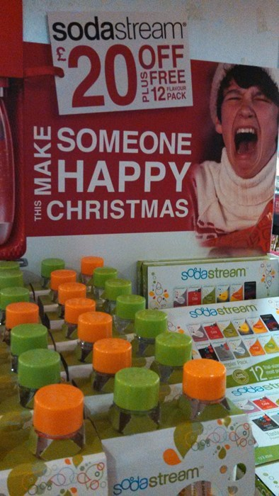 christmas happy face sodastream Target