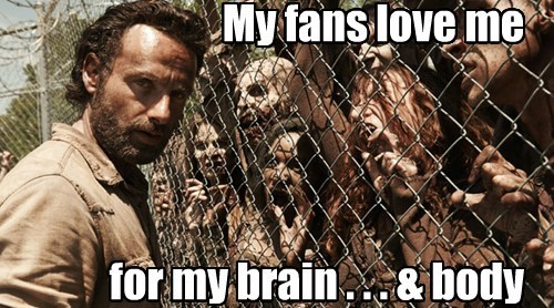 My fans love me for my brain . . . & body